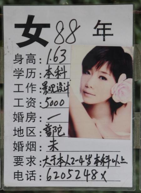 Shanghai's marriage market