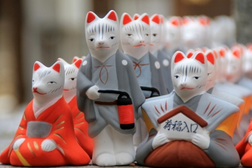 Foxes at the Fushimi-Inari-Taisha